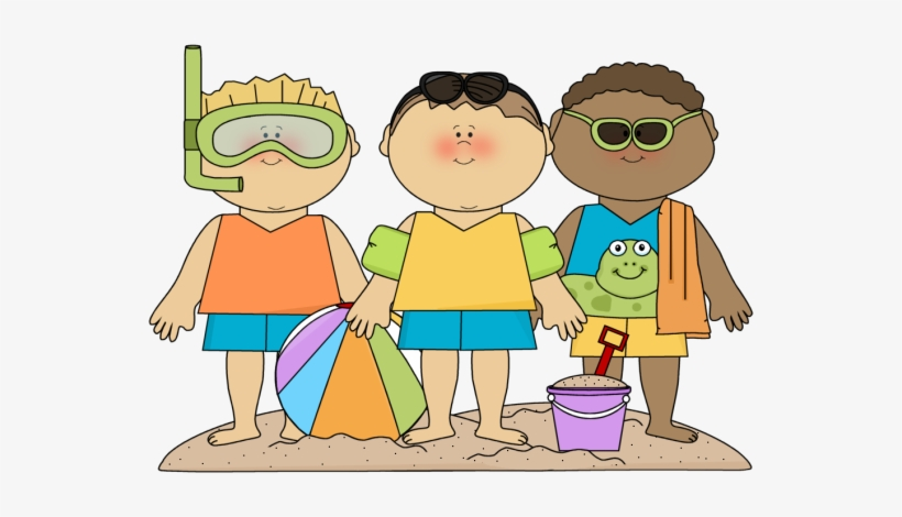 Beach Clipart Family Kids At Beach Clipart Png Image Transparent