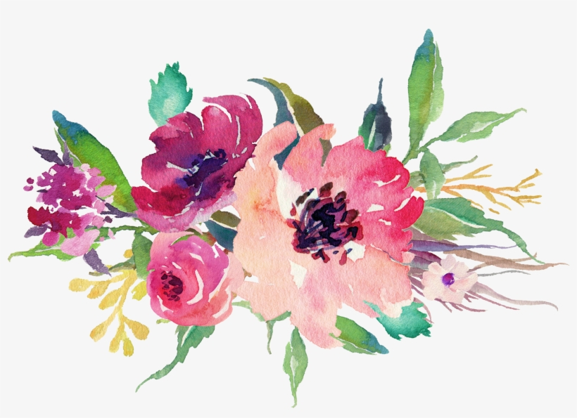 Watercolor Floral Bouquet Png Stock Wedding Flowers Watercolor Png
