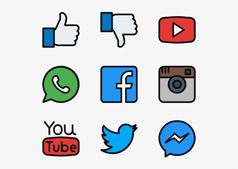 Social Media Icons Web Design Png Image Transparent Png Free Download On Seekpng