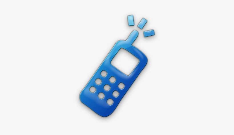 15 Blue Mobile Icon Images Blue Cell Phone Icon Png Image Transparent Png Free Download On Seekpng