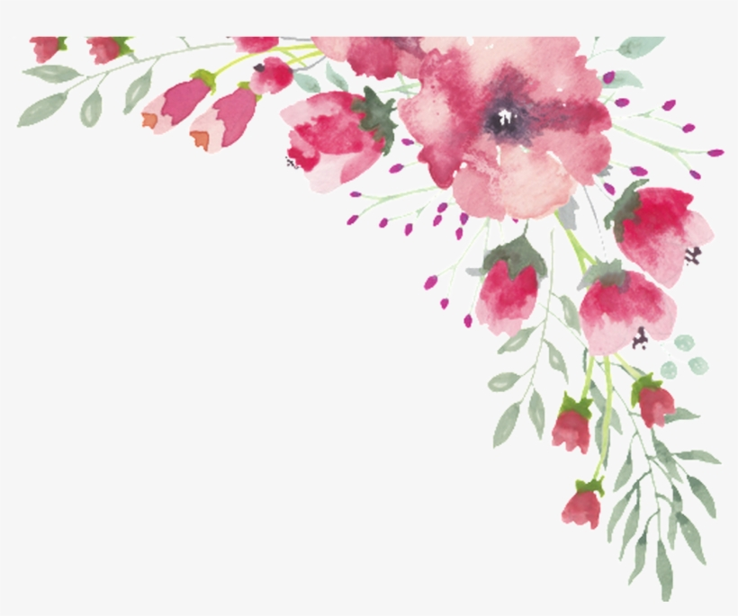Png Watercolor Flower Lace Border 1 Free Download Transparent