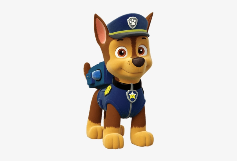 At The Movies - Chase Paw Patrol Vector PNG Image | Transparent PNG