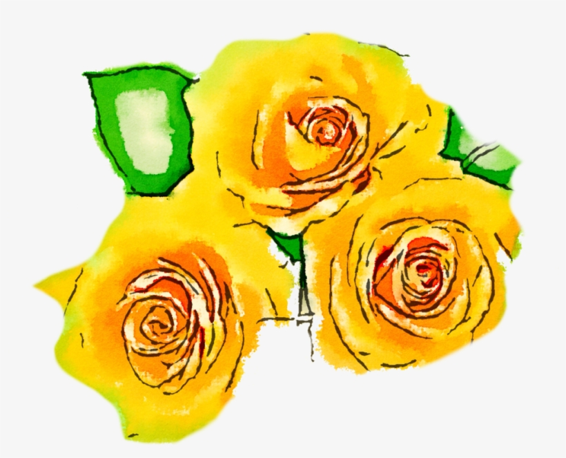 Free Yellow Flowers Png Usefreely Watercolor By Anjelakbm