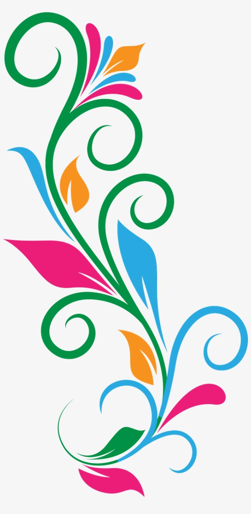 Design Transparent Background Colorful Floral Designs Png