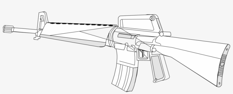 Weapon M16 Rifle Drawing Firearm Gun M16 Coloring Pages Png Image Transparent Png Free Download On Seekpng