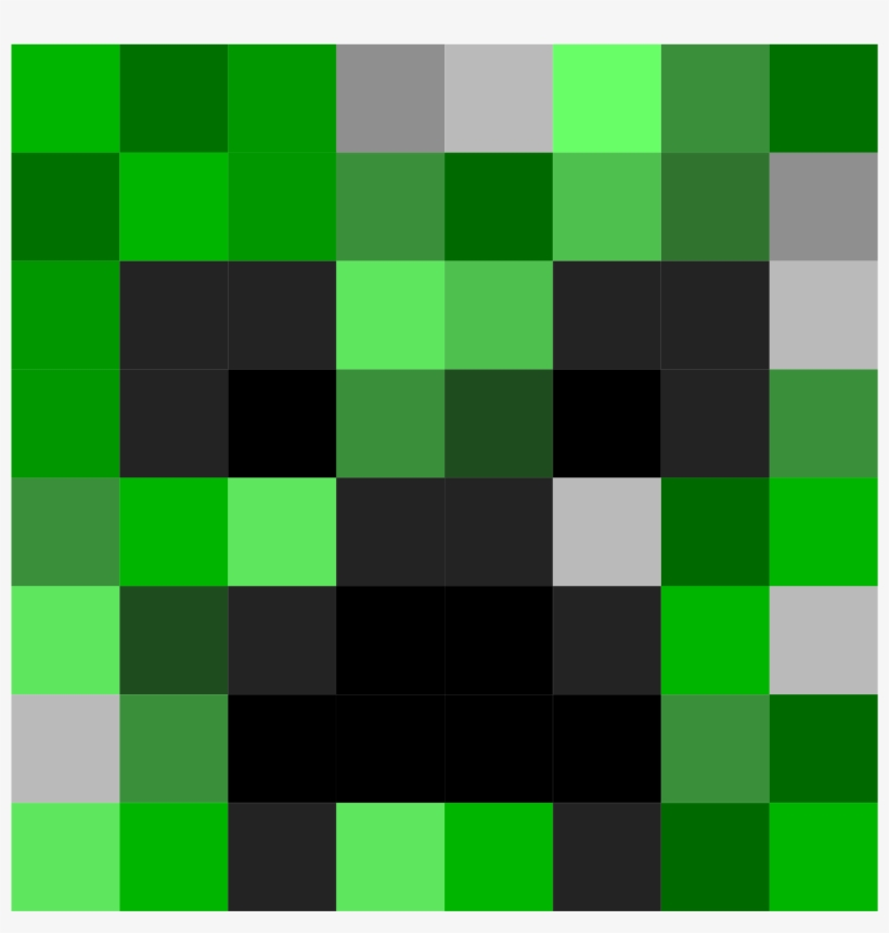 Minecraft Creeper Face Icons Png - Minecraft Creeper Head ...