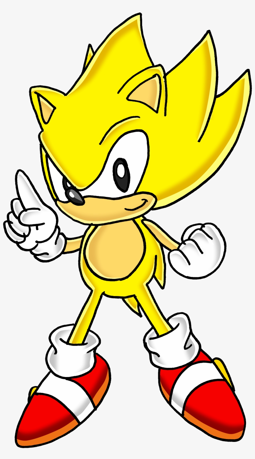 Classic Super Sonic The Hedgehog Easy Super Sonic Drawing Png Image Transparent Png Free Download On Seekpng