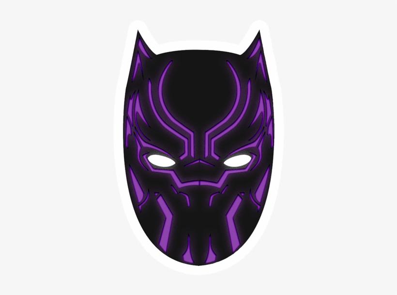 Black Panther Sticker Black Panther Mask Png Png Image Transparent Png Free Download On Seekpng