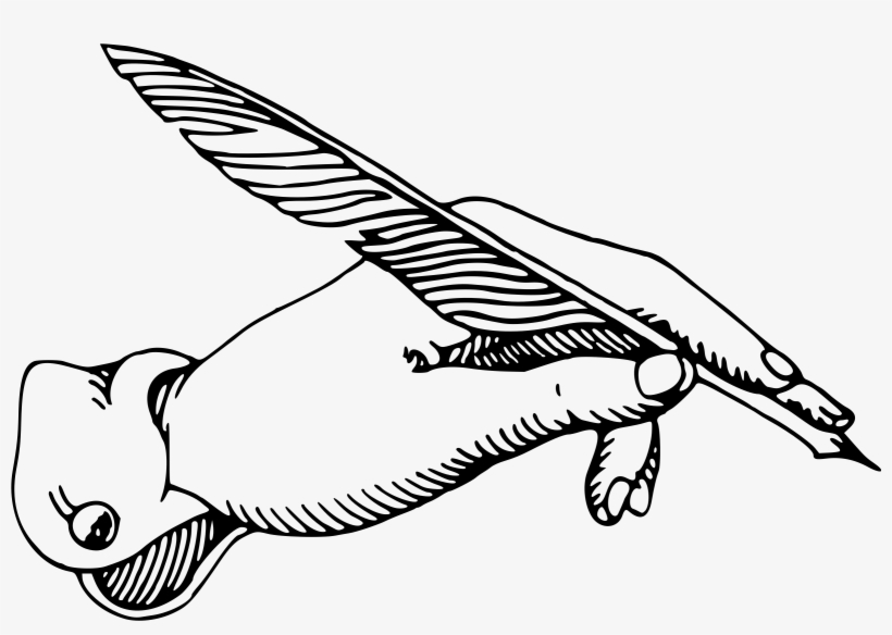 This Free Icons Design Of Hand With Quill Image