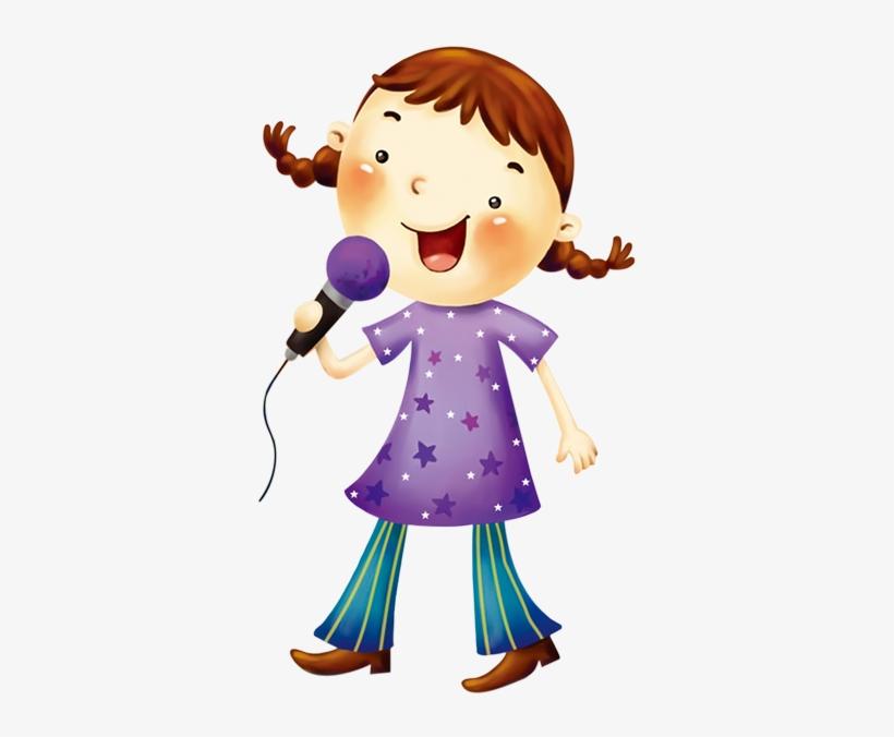 Картинка девочка с микрофоном, открытки