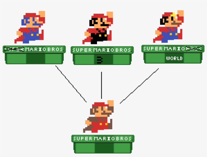 Smb Anniversarry Amiibo Collection - 8 Bit Mario PNG Image