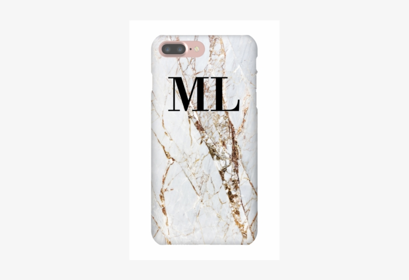 Personalised Cracked Marble Initials Iphone 7 Plus Sienna And