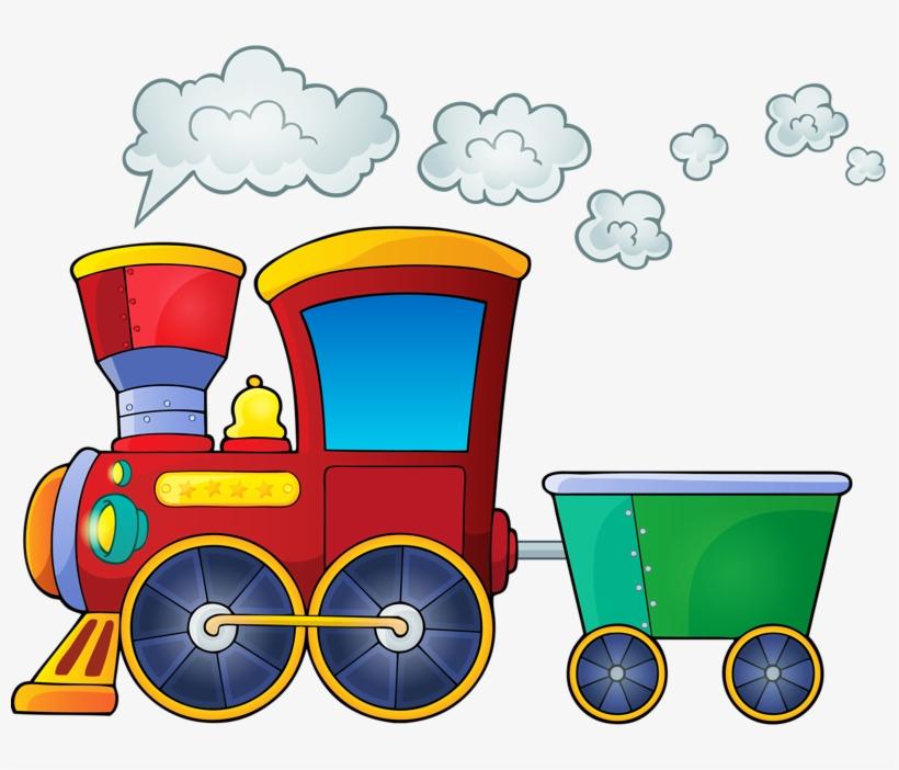 картинка поезд без колес на прозрачном фоне
