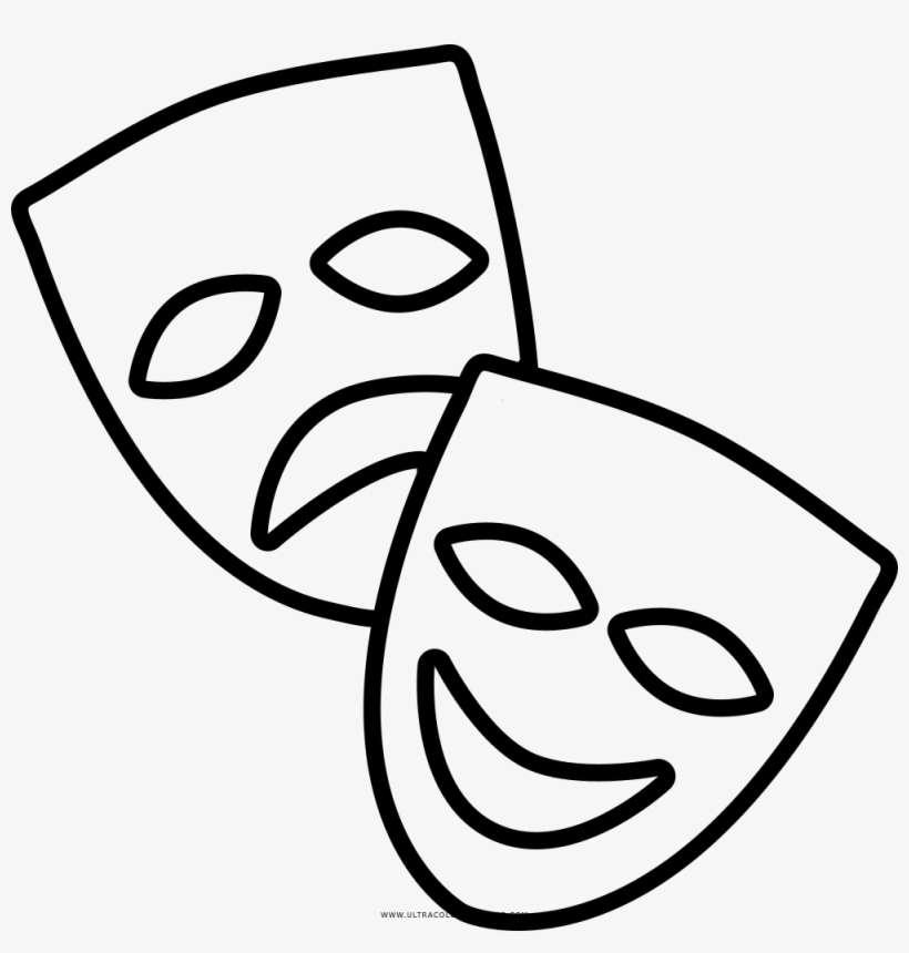 Jpg Transparent Download Theatre Tragedy Transprent Mascaras De