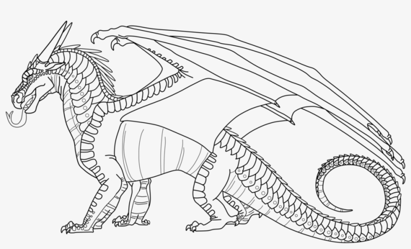 Wings Of Fire Free To Use Nightwing Lineart By Lunarnightmares981 Nightwings Wings Of Fire Coloring Page Png Image Transparent Png Free Download On Seekpng