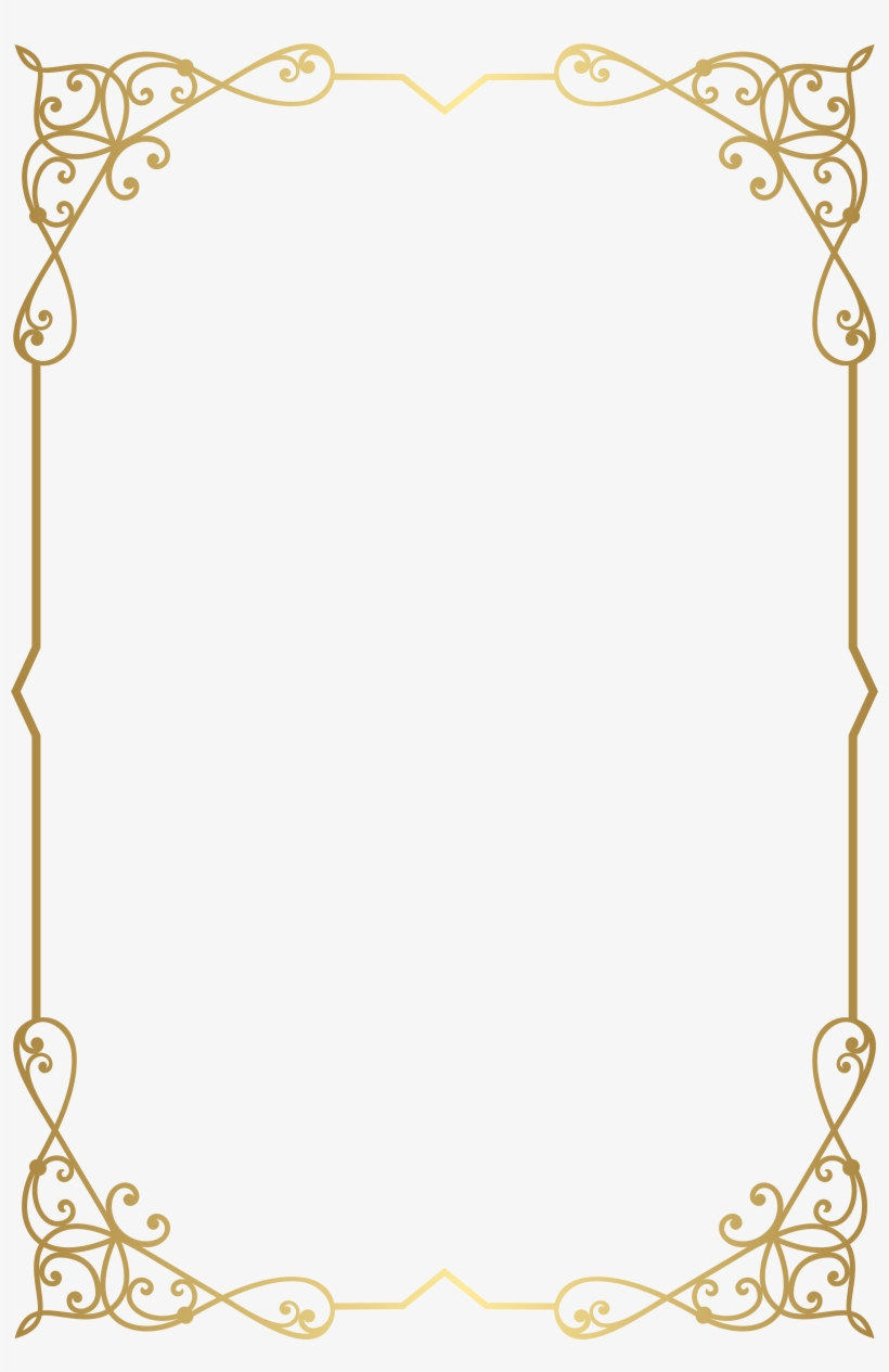 Fancy Gold Borders Png PNG Image | Transparent PNG Free ...