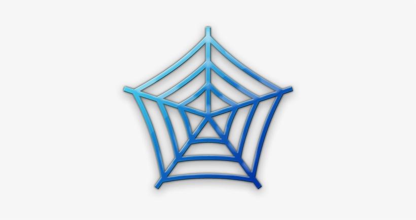 Spider web blue. Clipart net logo png