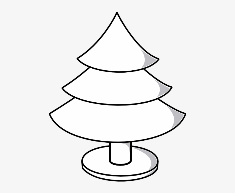 Christmas Tree Outline With Wide Stand Clip Art At Christmas Tree
