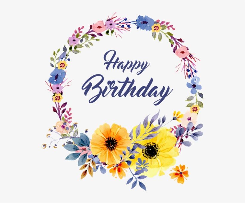 Birthday Floral Vector Png Birthday Floral Birthday Psd