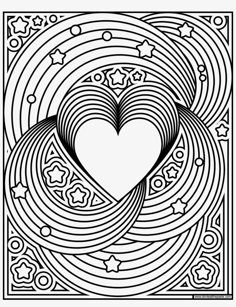 Rainbow Love Coloring Page- Available In Jpg And Transparent - Heart Rainbow  Coloring Pages PNG Image   Transparent PNG Free Download on SeekPNG