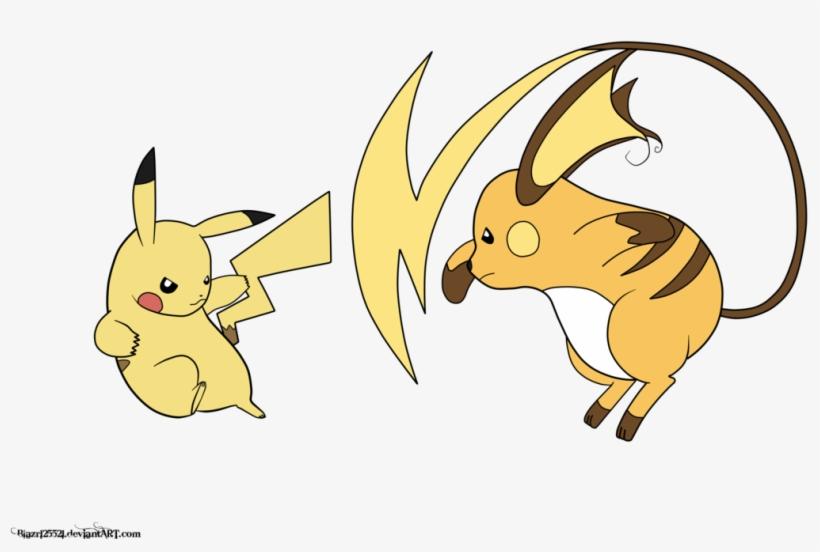 Pikachu Vs Raichu By Nightwind Pikachu And Raichu Fighting