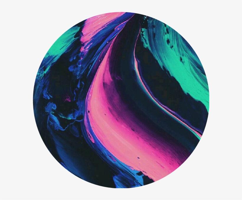 Circle Tumblr Aesthetic Overlay Paint Black Blue Pink