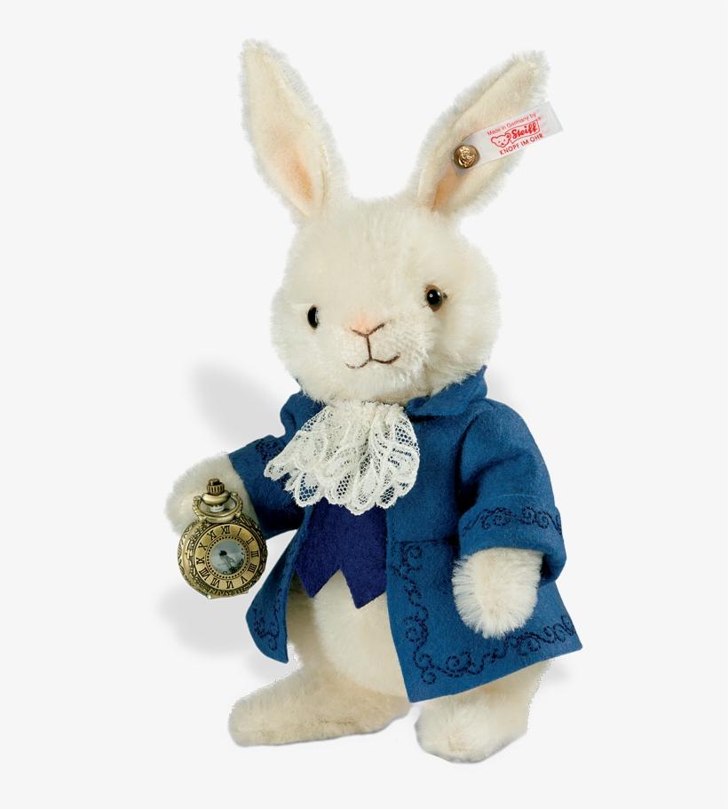 Steiff Bear Alice In Wonderland White Rabbit Toy Png Image