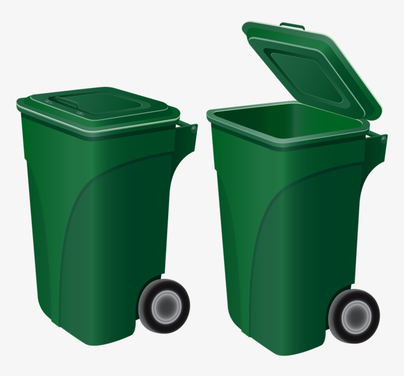 Green Recycle Cans Cartoon Trash Can Vector Free Png Image