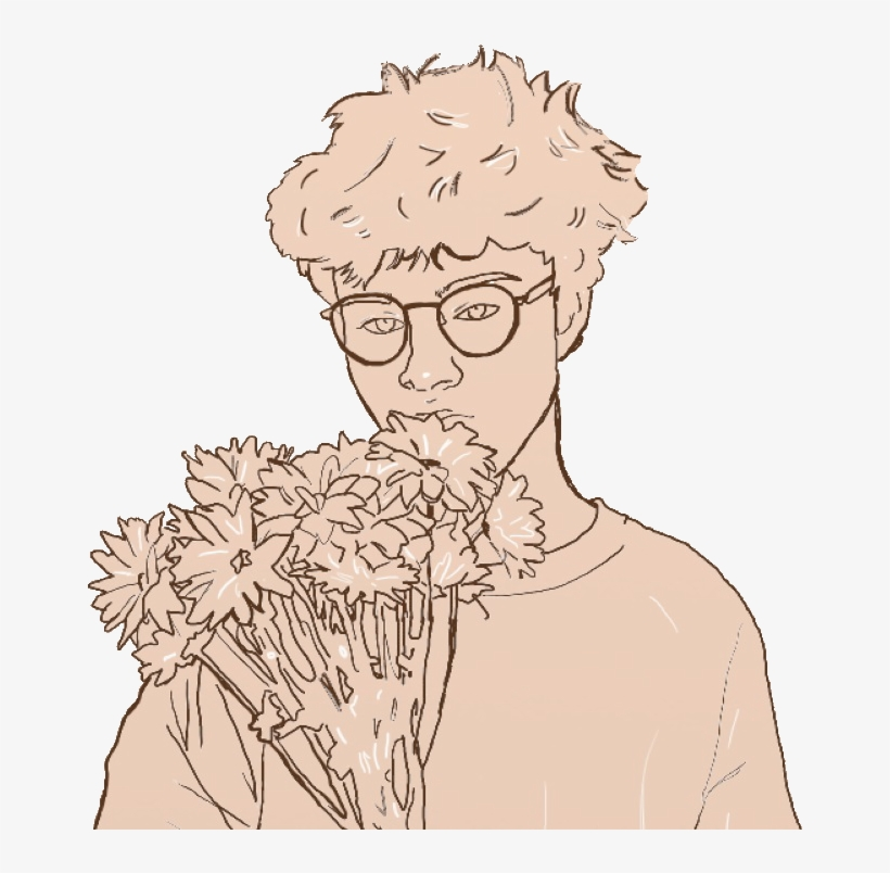 Report Abuse Flower Boy Drawing Png Image Transparent Png Free Download On Seekpng