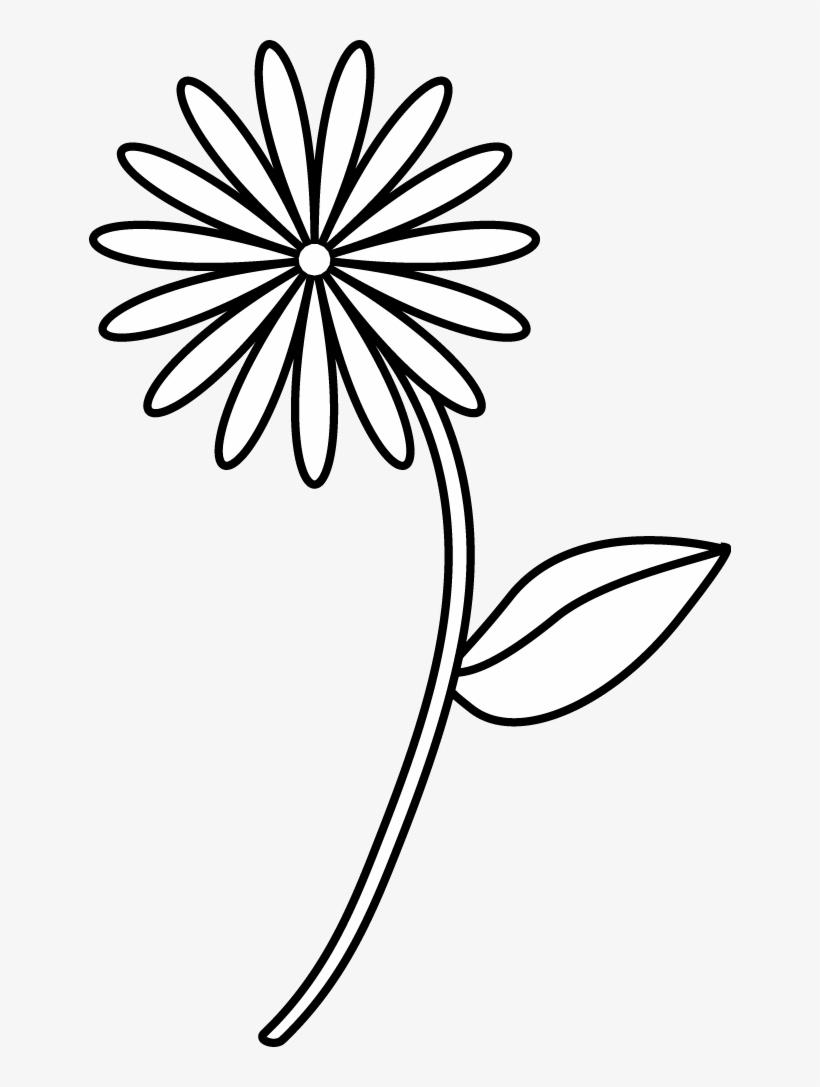 Easy Flower Sketch Simple Flower Sketch Png Png Image Transparent Png Free Download On Seekpng