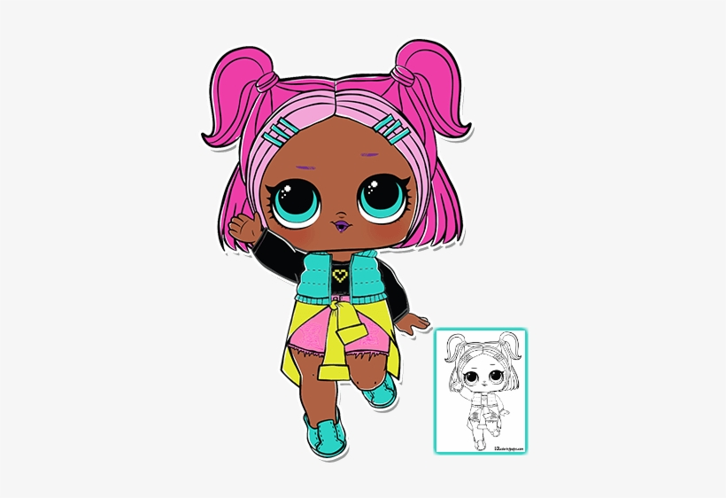 V R Q T Lol Surprise Doll Series 3 Coloring Page Lol Surprise Serie 3 Png Image Transparent Png Free Download On Seekpng