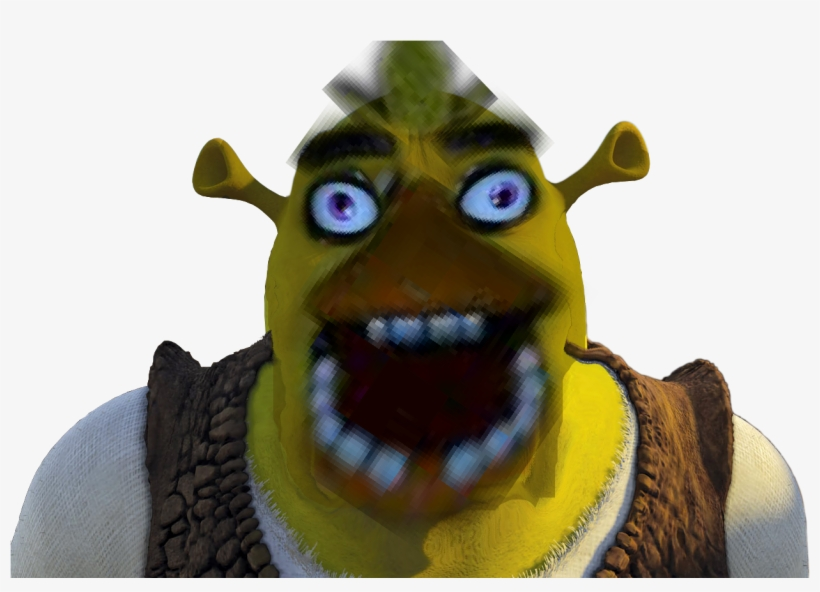 Shrek Face Zoomed Up Meme Shrek Invisible Background Png Image