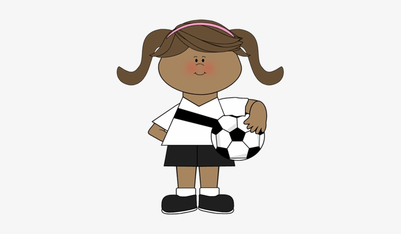 Kids Soccer Ball Clipart Free Images Cartoon Girl Soccer Players Png Image Transparent Png Free Download On Seekpng