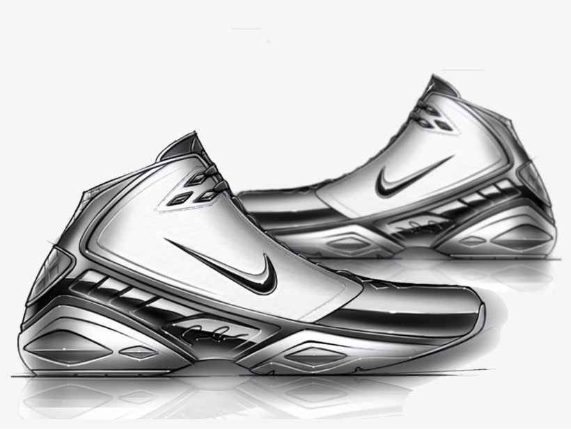 3601e7739383 Shoe Nike Air Jordan Sneakers Drawing - Nike Shoes Sketch Draw PNG ...