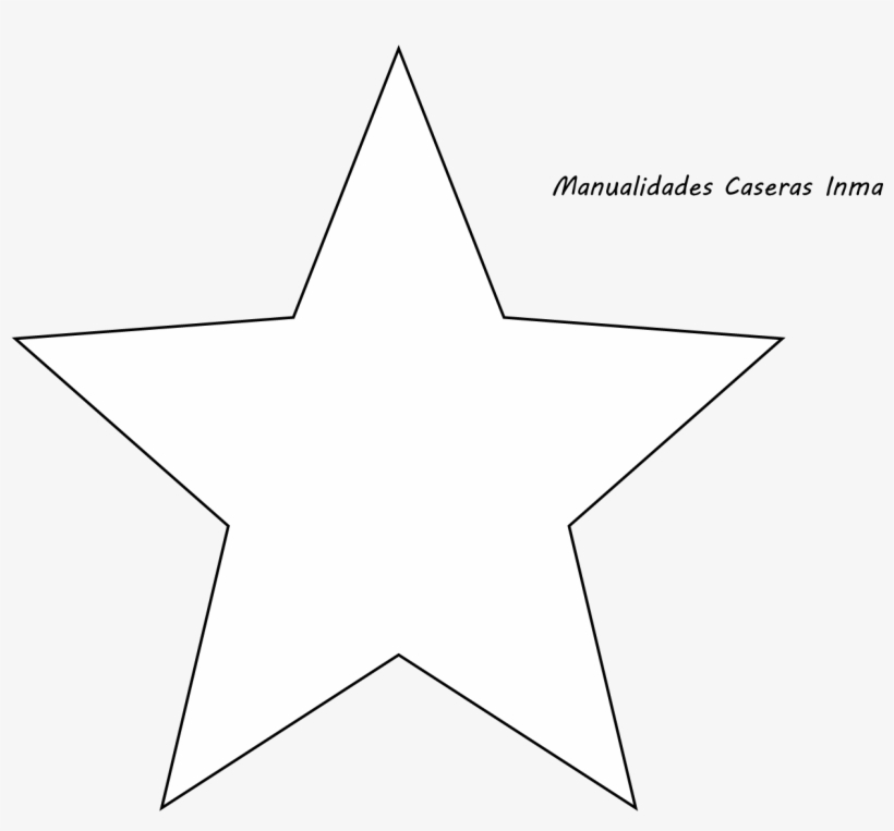 Manualidades Caseras Inma Patron Estrella Para Arbol Star Icon