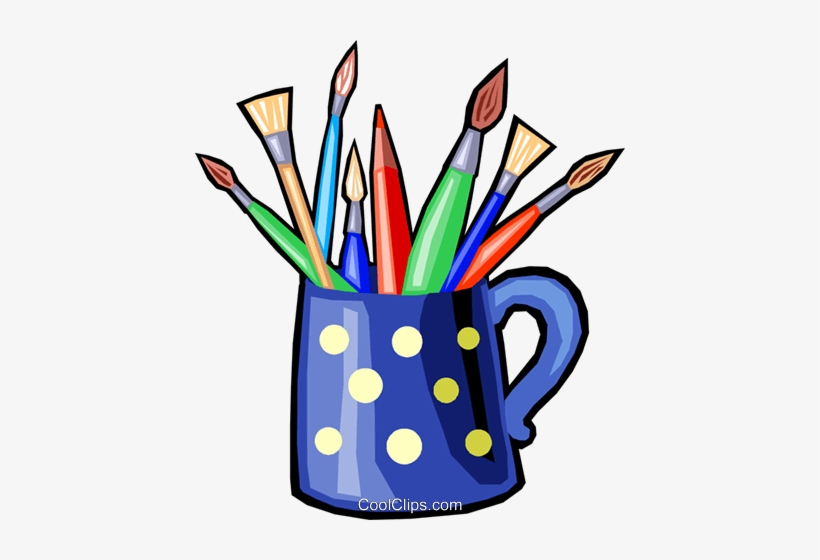 Colored Pencils And Paint Brushes Royalty Free Vector Art Brushes Clipart Png Image Transparent Png Free Download On Seekpng