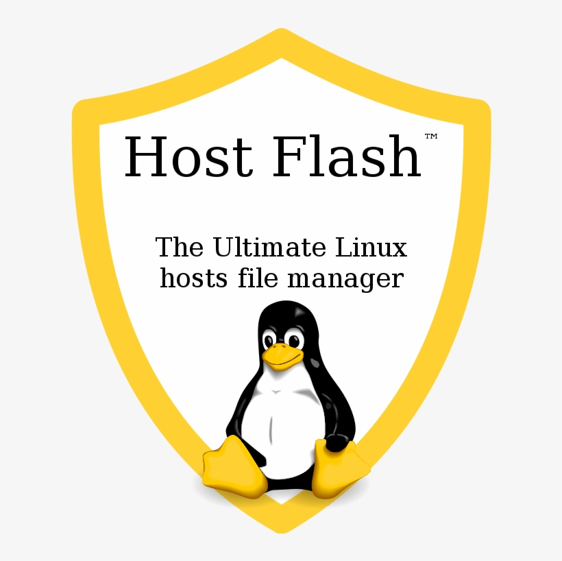 Host Flash™ Logo With Slogan - Windows Linux Mac Android PNG Image