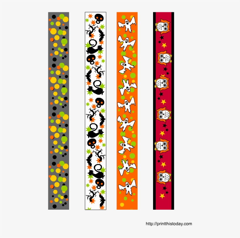 photograph relating to Printable Washi Tape named Free of charge Printable Colourful Halloween Washi Tape - Adhesive Tape