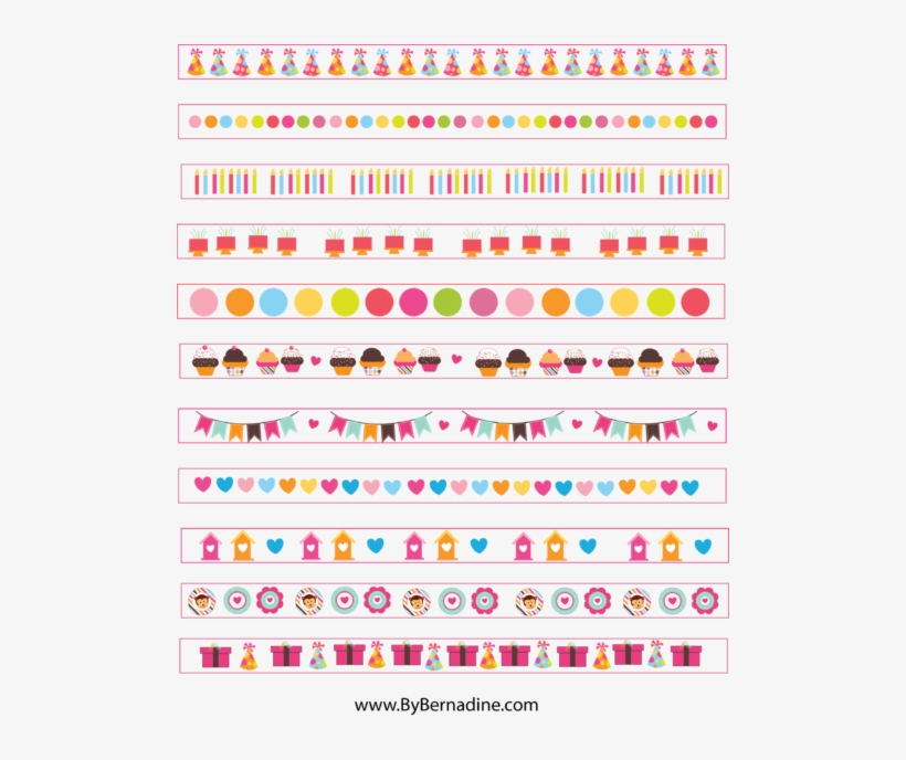 image relating to Free Printable Washi Tape named Free of charge Lovable Printable Washi Tape Planner Stickers By means of - Sticker