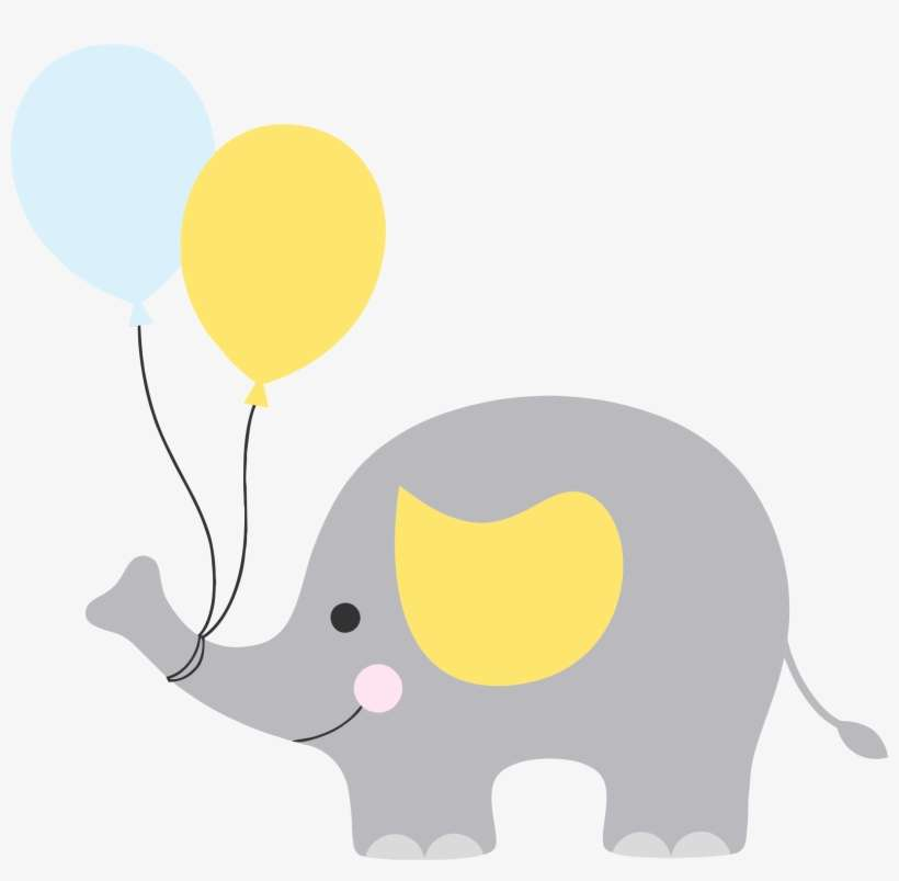 Banner Free Library Baby Shower Elephant Clipart Boy Elefante