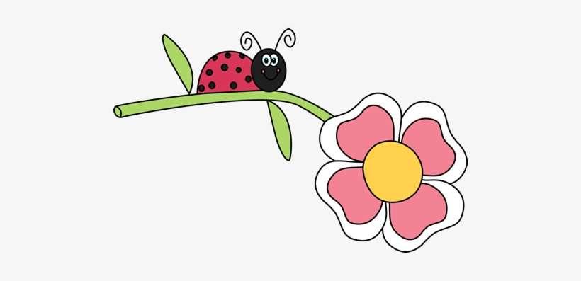 Free Ladybug Clipart - Ladybug On Flower Clipart PNG Image Transparent  PNG Free Download On SeekPNG
