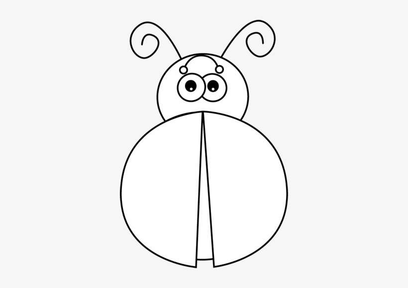 Black And White Stock Without Spots Clip Art - Ladybug Without Dots Clipart Black And White@seekpng.com