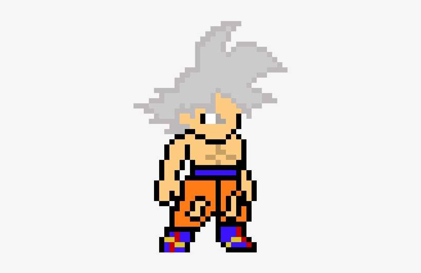8bit Goku Mastered Ultra Instinct Ultra Instinct Pixel Art
