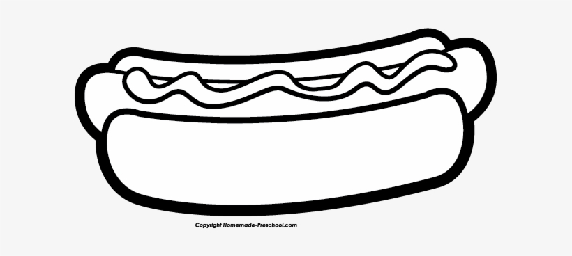 Click To Save Image Hot Dog Cartoon Black And White Png Image Transparent Png Free Download On Seekpng
