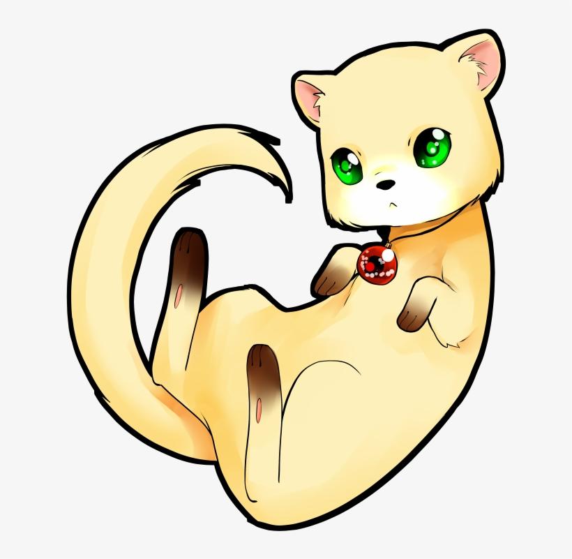 Chibi Ferret Anime Animals Kawaii Art Cat Drawing Chibi