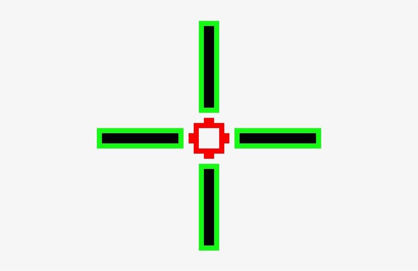 Wierd Crosshair Pixel Art Cross Png Image Transparent
