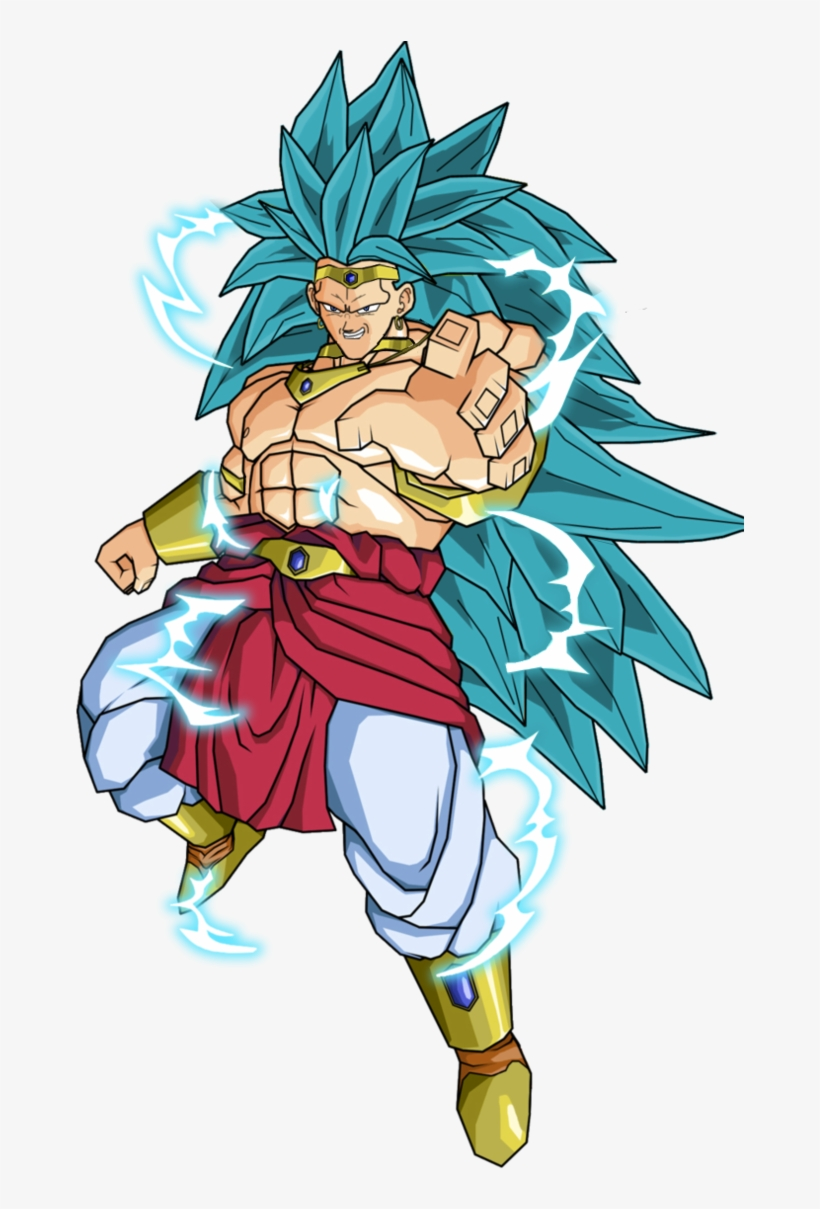 Clipart Freeuse Broly Transparent Blue Hair Controlled Dragon Ball