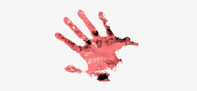 Bloody Handprint Psd - Bloody Hand Print Render PNG Image