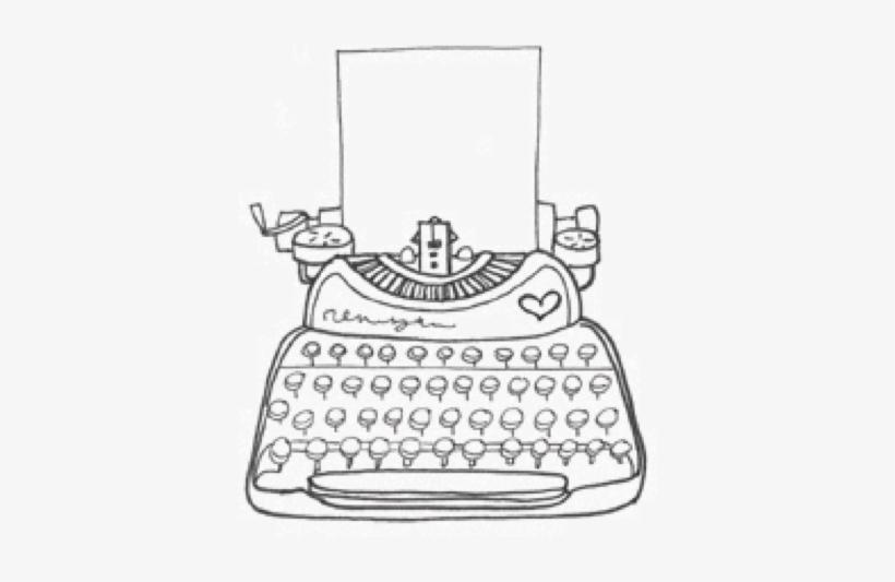Typewriter Paper Vintage Drawing Etsy Maquina De Escrever