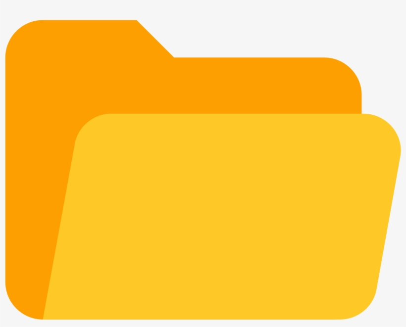 Yellow Folder Png Clipart Transparent Download - Open Folder